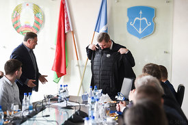 during the Final Tournament - Final Four - SEHA - Gazprom league, Meeting with the mayor of Brest in Brest, Belarus, 08.04.2017, Mandatory Credit ©SEHA/ Nebojša Tejić