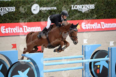 Laura RENWICK ,(GBR), HELIODOR HYBRIS during Caixa Bank Trophy competition at CSIO5* Barcelona at Real Club de Polo, Barcelona - Spain