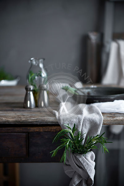 Rosemary on a vintage table