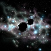 Two Black Holes Emitting Gravity Waves #19