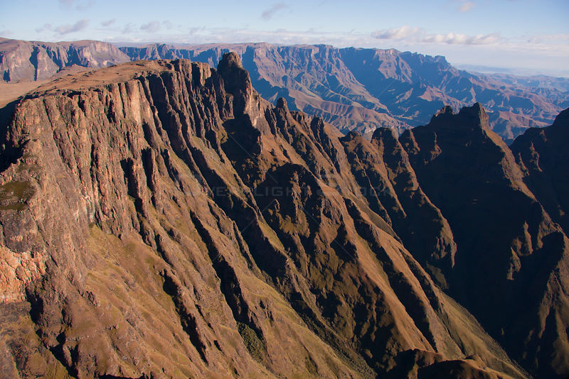 Aerial view of  Drakensberg Mountains, South Africa, May 2011.