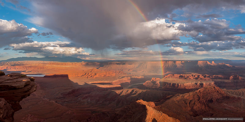 Rainbow at Dead Horse Point - Utah