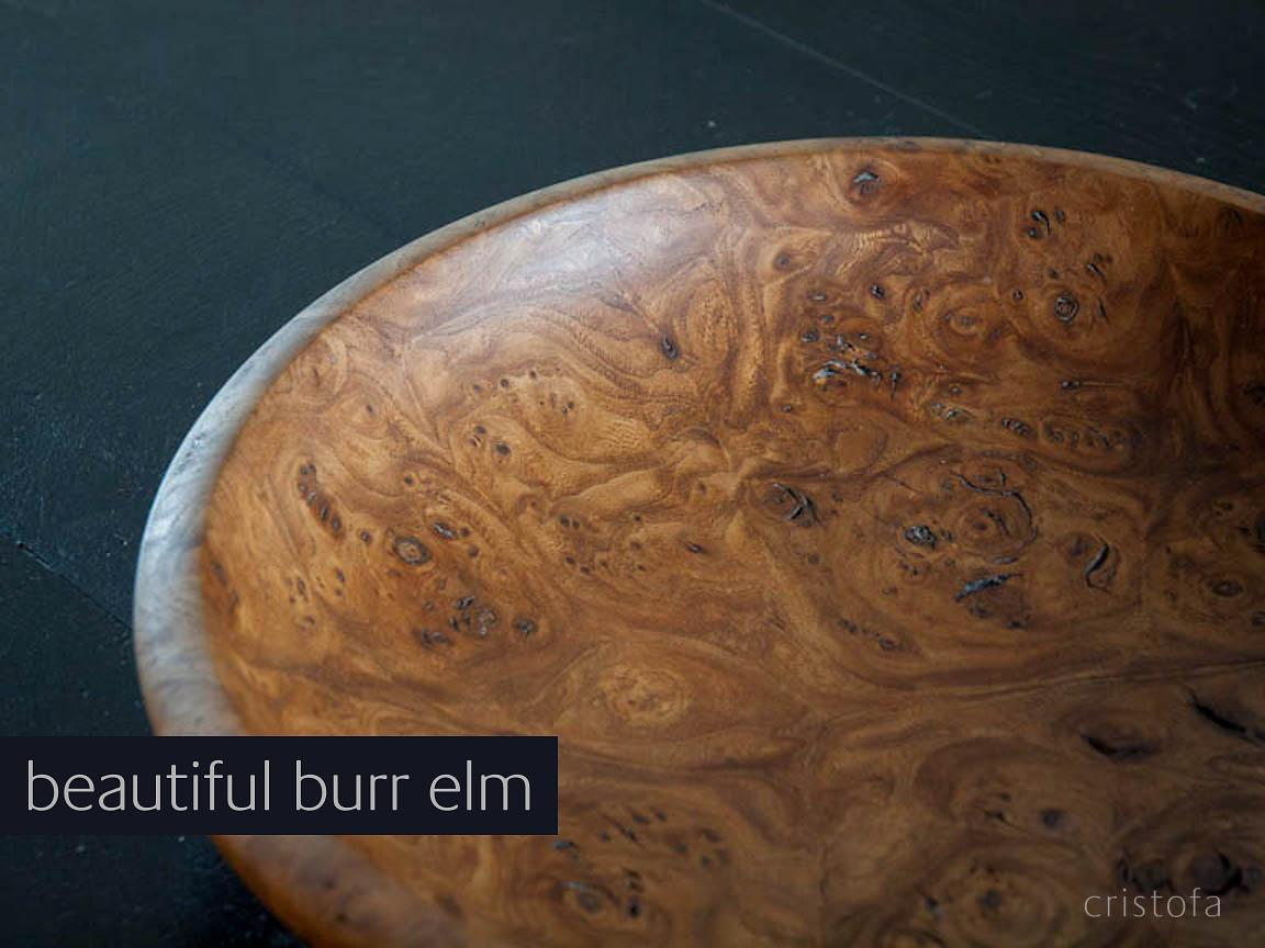 a beautiful burr elm bowl