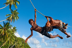 Kids playing, Guadacanal, Solomon Islands
