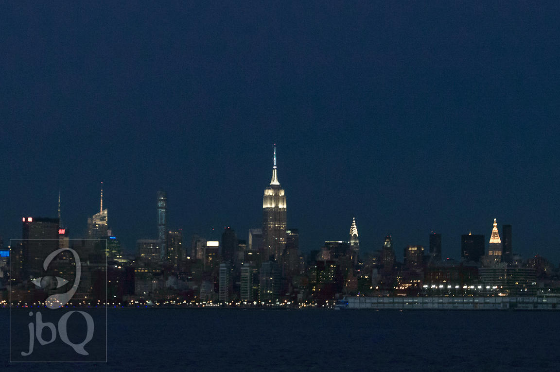 Empire State from Jersey City, Dusk