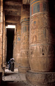 Medinet Habu, Colonnades in the second court, Ancient Thebes, Luxor, Egypt