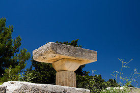 The Doric Temple of Asklepios, The Asklepion, Kos Island, Dodecanese Islands, Greece.
