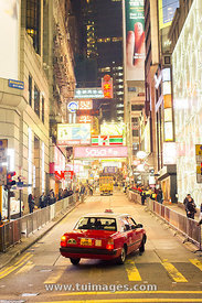 Christmas eve celebrations in Hong Kong, China-24 Dec 2012