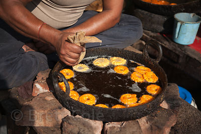 Making sweets, Bharatpur, Rajasthan, India