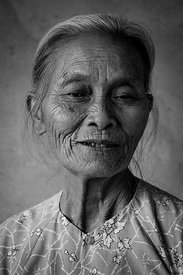 Old Lao Woman Portrait