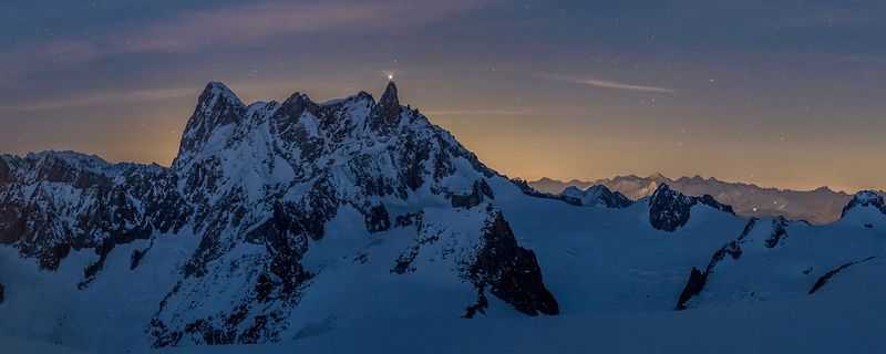 Meeting of two giants - Chamonix Mont-Blanc