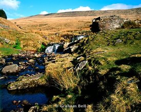 waterfalls  pont ar daf storey arms brecon beacons national park wales uk