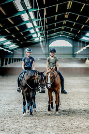 Danish girls riding horses