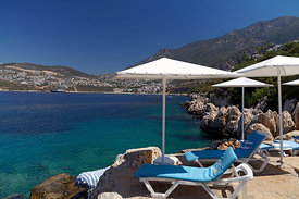 Kalkan from Kisla, Lycian Coast, Turkey, Asia.