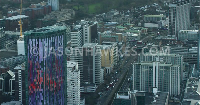 London Aerial footage, Saffron Tower, Croydon.