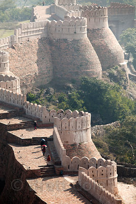 Ramparts at Kumbhalgarh Fort, Rajasthan, India