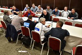 Seha teams during the Final Tournament - Final Four - SEHA - Gazprom league, technical meeting, Varazdin, Croatia, 31.03.2016, ..Mandatory Credit ©SEHA/Stanko Gruden..