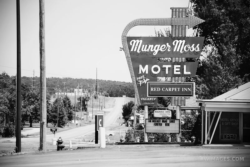 ROUTE 66 SPRINGFIELD MISSOURI BLACK AND WHITE