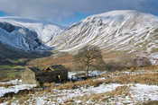 Looking from Bluecaster Fell into Cautley Crag and Yarlside on the Eastern edge of the Howgills in Cumbria.