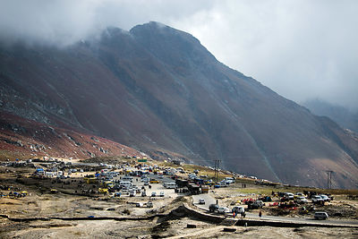 The way to Rohtang Pass, Manali, India