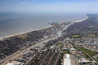 aerial photograph of Great Yarmouth Norfolk England UK