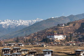 Paro Dzong, also known as Rinpung Dzong which is a Drukpa Kagyu Buddhist monastery in Paro District, Bhutan.