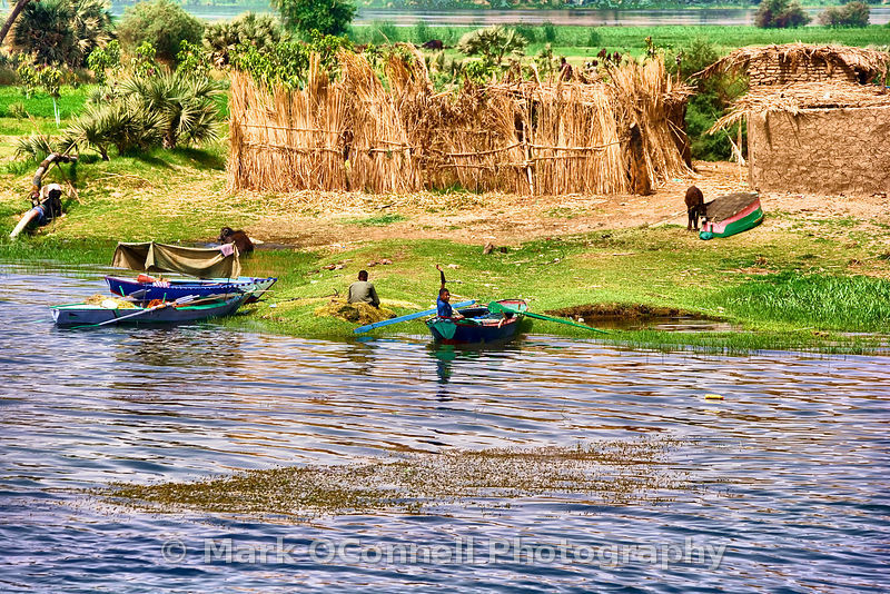 Boats on the river Nile