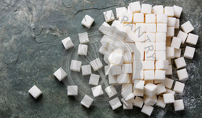 Refined sugar cube background