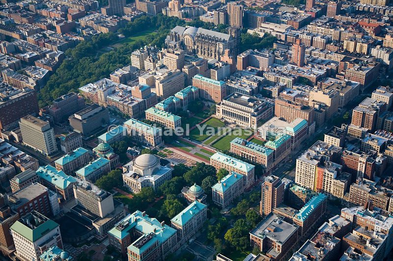 An aerial view of Columbia University.  Manhattan, New York City.
