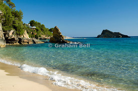 Platys Gialos beach, Lassi, Argostoli, Kefalonia, Ionian Islands, Greece.
