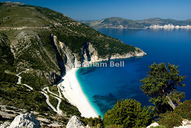 Myrtos Beach, Kefalonia, Ionian Islands, Greece.
