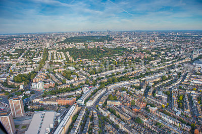 Aerial view of Holland Park, London