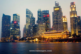 Singapore city night scape