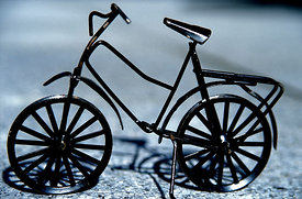 Black bicycle, Ventron, France