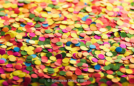 Colored confetti background horizontal.