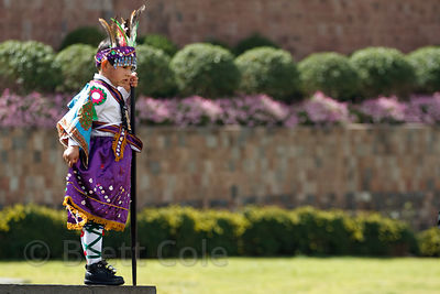 A boy dressed for Cusco Week festivities, Cusco, Peru