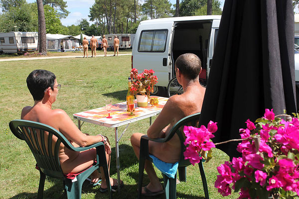 "Naturist camp ""The Pines"" in Erdeven."