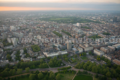 Aerial view of Marylebone, City of Westminster, London