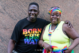 A portrait at NYC Pride Parade in Chelsea, NY.