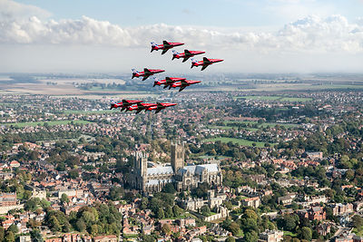 Red Arrows over Lincoln