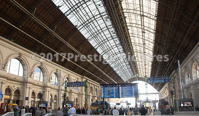 The large Roof Structure at Keleti Railway Station, Budapest