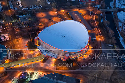 Calgary's Scotiabank Saddledome Aerial Photo