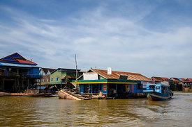 Gas station on Tonle Sap