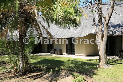 Lodge accommodation at Mokuti Safari Lodge, Etosha, Namibia