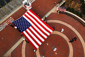 911_american_flag_ceremony_top_down
