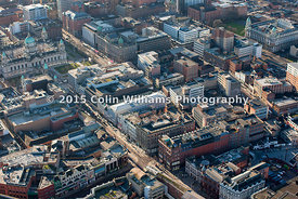 Aerial view - Donegall Place Belfast