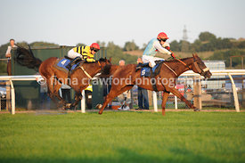 22nd August 2013 7.35pm Handicap Steeple Chase with winner Bennys Quest