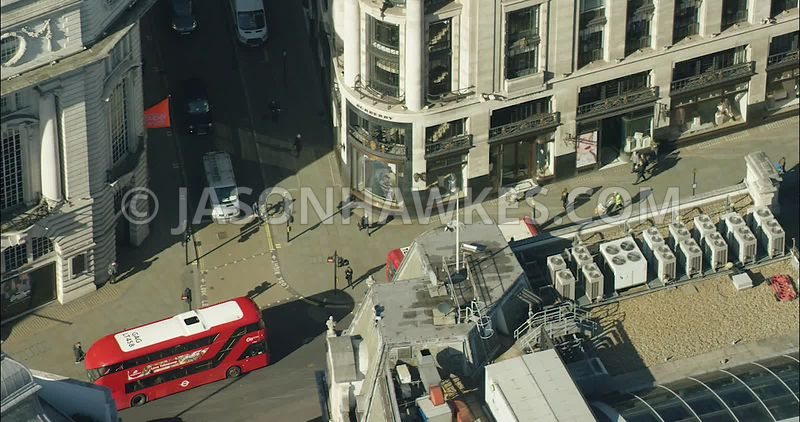 London Aerial Footage of Regent Street.