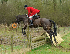 Andrew Osborne jumping the hunt jumps at Peake's Covert