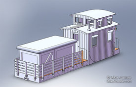 Preliminary concept for MOW caboose.